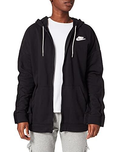 NIKE W NSW FZ Hoodie Earth Day FT Sweatshirt, Black/Black/(White), L Womens