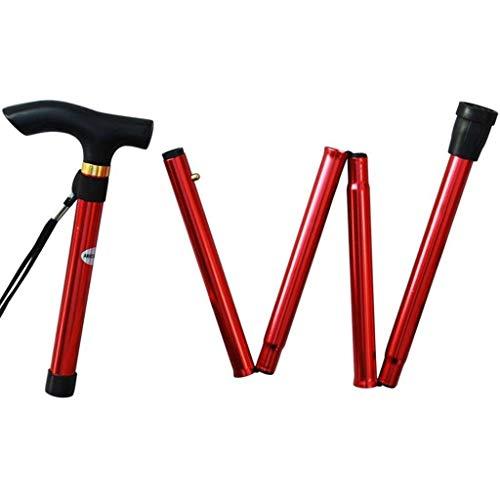 GQYLY outdoor wandelstokken, verstelbare beugels, geschikt voor bergwandelingen, touristcamping/kleur: rood