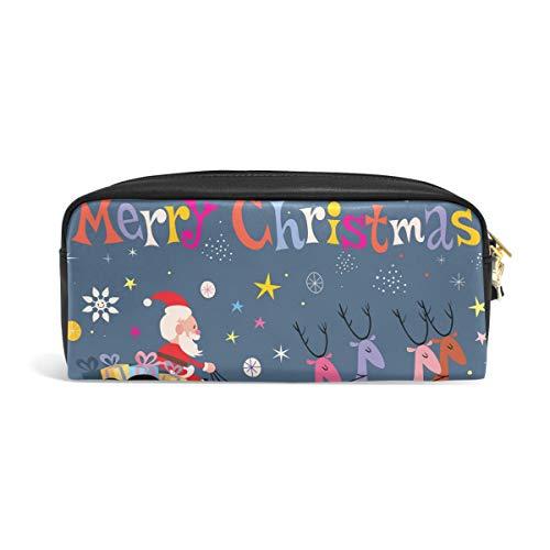 DEZIRO Kerstman en zijn slee vliegende potlood doos Cosmetische tas