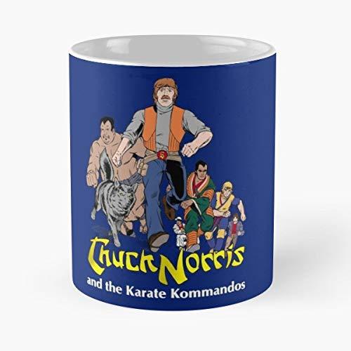 and Chuck Karate The Full Team Kommandos Norris Standardkaffee 11 Unzen Geschenk Tassen für alle