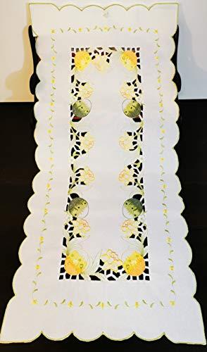 T&K 16K45-3 - Runner pasquale decorativo con uova di Pasqua, 40 x 90 cm