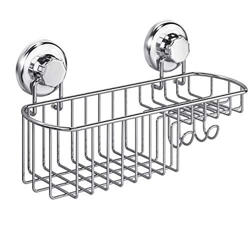 HASKO accessories - Powerful Vacuum Suction Cup Shower Caddy Basket for Shampoo - Combo Organizer...