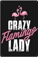 RCY-T メタルサイン Vintage Flamingo Poster Cartoon ブリキサイン Bar Club Restaurant Bathroom Today Wall Decoration 8x12 Inches Gift Vintage-1-8x12 inch