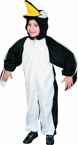 Dress Up America Costume de peluche de pingouin Déguisement, unisex-child, 317-L, Comme la présentation, 12-14 ans (Taille 34-38, Hauteur 50-57 Pouces)