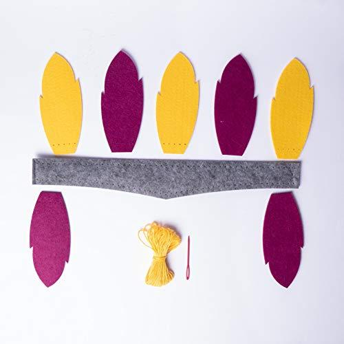 Kit DIY - Gorro indio para coser - Kit de costura - Kit hecho por ti - Gorro indio para hacer de fieltro