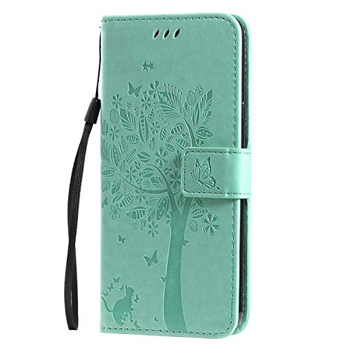 Hülle für LG K40S Hülle Handyhülle [Standfunktion] [Kartenfach] [Magnetverschluss] Schutzhülle lederhülle flip case für LG K40S - DEKT021341 Grün