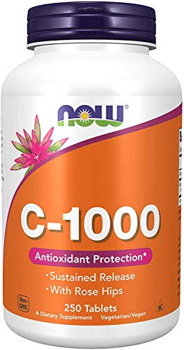 NOW C-1000 Sustained Release (Citrus Free) 250 Tablets, 100 g
