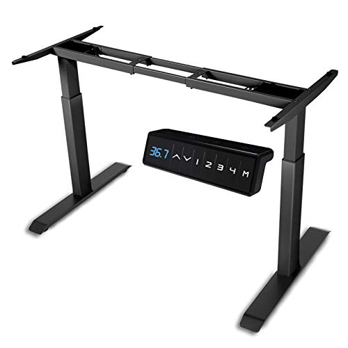 HAIAOJIA Electric Stand Up Desk Frame Dual Motor Load 270 lbs Ergonomic Standing Desk Frame 2Stage Height Adjustable with Memory Controller  Frame Only