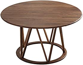 Round Coffee Table,Rustic Industrial Metal Frame,Accent Nightstands Dining Decorative,Displaying Tables for Reception Livi...