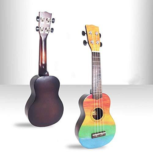 Geeignet für Anfänger und Fortgeschrittene - 21 Zoll hölzerne Ukulele kleine Gitarre-Bemalte Farbe