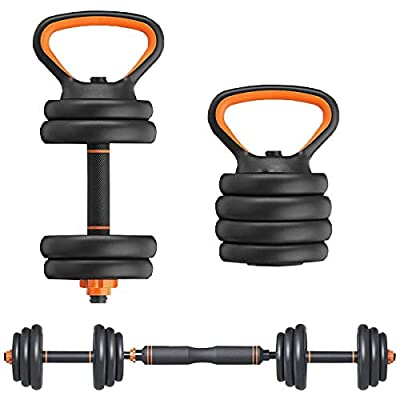 Elevens 66 Lbs Dumbbell Set with Barbell Kettlebell and Push Up Bar Function from Elevens