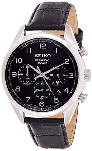 Seiko Reloj Cronógrafo de Cuarzo para Hombre con Correa de Piel – SSB231P1_Nero, Nero