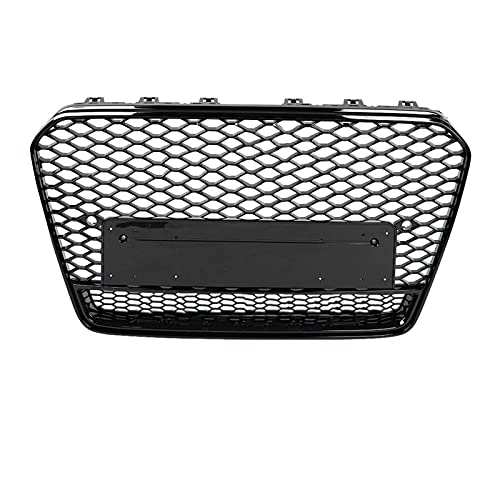 BAIYUN para RS5 Style Front Sport Hex Mesh Honeycomb Hood Grill Fit Black Fit for Audi A5 / S5 B8.5 2013 2013 2014 2014 2014 2015 2016 Facelift Car Accesorios