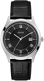 ساعة رسمية للرجال من جيس، هيكل ستانلس ستيل، مينا ساعة اسود اللون، انالوج - W1182G3