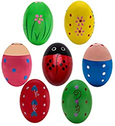 Wooden percussion Easter eggs for your one year old.