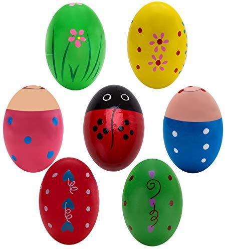 5. Kunyida 7Pcs Wooden Percussion Musical Egg