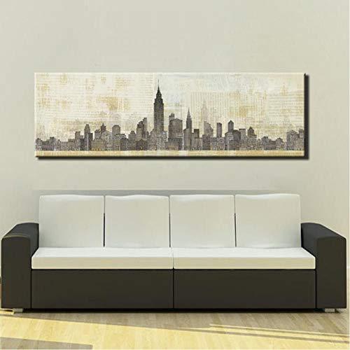 TBWPTS Canvas Schilderij Moderne abstracte kunst canvas schilderij schilderij New York Parijs canvas olieverfschilderij voor thuis wanddecoratie