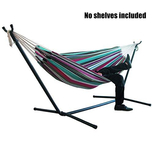 Bed HDS 200x150cm Grand Stripe Jardin sans Support Toile hamac Pliable Portable for Camping en Plein air Chambre Mélangisme Accueil Intérieur (Color : C)