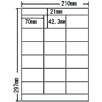 東洋印刷 シートカットラベル A4版 18面付(1ケース500シート) LDZ18PF
