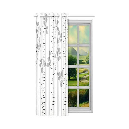N\A Innenfenster Vorhang Märchen Birkenhain Schalldichte Verdunkelungsvorhänge 132 x 160 cm (52 x 63 Zoll) 1-Panel-Verdunkelungsvorhang für Schlafzimmer Wohnzimmer