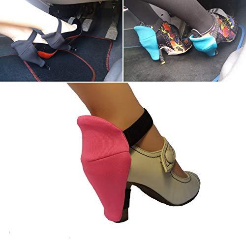 Schuhabsatzschoner für Frauen zum Eintreiben für abriebfreie Pumps, verwenden Sie Ihre Schuhschoner und halten Sie Ihre Absätze schön - ein Paar pinkfarbener Pumps