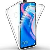 ivencase Funda Huawei P Smart Z, Ultra Slim Doble Cara Carcasa Protector Transparente TPU Silicona + PC Dura Resistente Anti-Arañazos Protectora Case Cover para Huawei P Smart Z