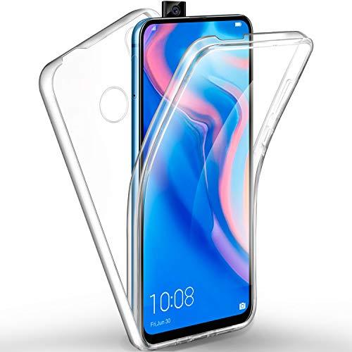 AROYI Hülle Kompatibel mit Huawei P Smart Z 360 Grad Handyhülle, Silikon Crystal Full Schutz Cover 2in1 Separat Hart PC Zurück mit Weich TPU Vorderseite Vorne & Hinten Schutzhülle