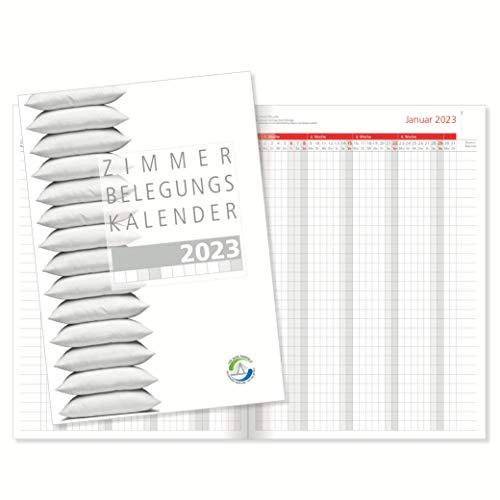 Zimmerbelegungskalender 2023 Zimmerbelegungsplan Belegungskalender für Hotels und Pensionen, Ferienvermietungen und Gästevermietungen mit roten Sonn- und Feiertagen