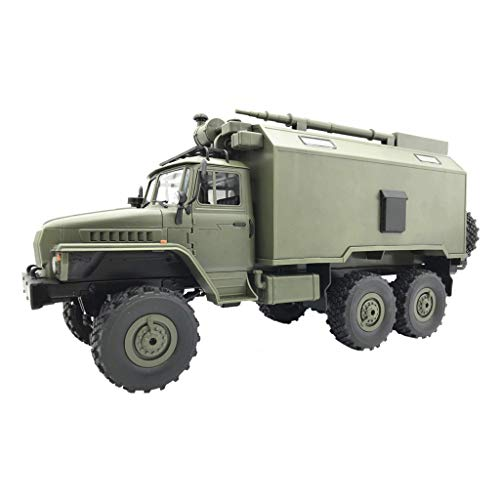 WPL B36 Ural 2.4G 1/16 Off-Road RC Car, RTR Military Truck with Powerful Durable 6WD, Mechanical Transmission Control for All Terrains