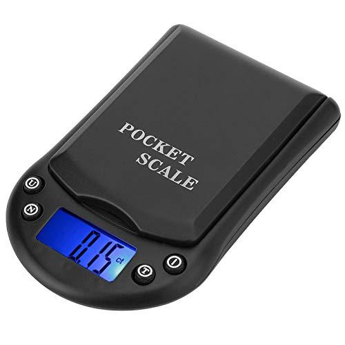 DAUERHAFT Báscula eléctrica Báscula Digital Sensor Importado Circuito avanzado 0.1g Alta precisión, para Joyas de Oro/Plata, Piezas de Relojes, Piezas de Hardware de precisión, Laboratorios