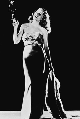Poster Rita Hayworth Gilda B&W, 60 x 91 cm