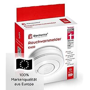 Ei Electronics Ei650 Rauchmelder (mit 10-Jahres-Batterie, Testsieger Stiftung-Warentest, 1 Stück)