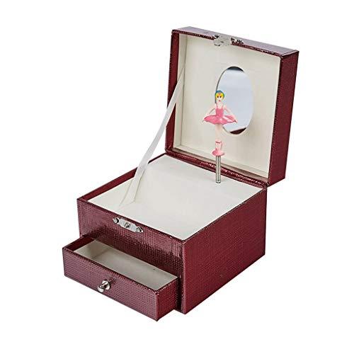 guoqunshop Titular de Collar Caja de música Pulsera Collar Anillo Caja de joyería Regalo de cumpleaños Regalo de San Valentín Organizador de Joyas