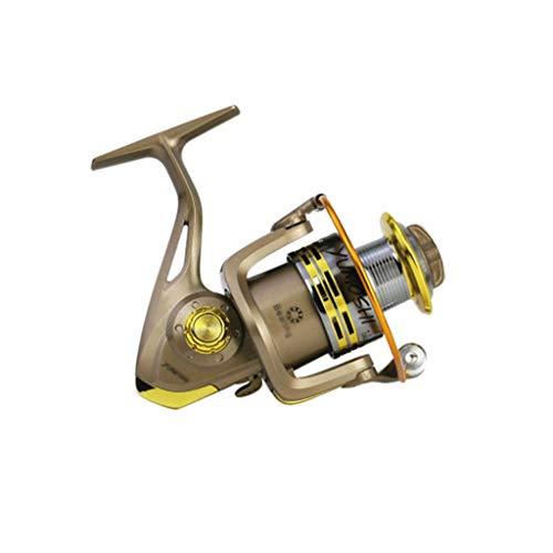 XZJJZ Todos los Metales de Ruedas Pesca Spinning caña de Pescar de Ruedas Mar Rueda de Acero Inoxidable Rueda Shot Mar Rueda Varilla Larga