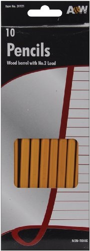 A & W B-robedarf AW31121 Holz Bleistifte No.2 10/PKG