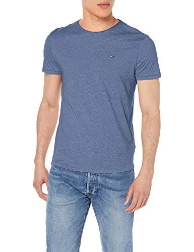 Tommy Jeans Herren Tjm Essential Jaspe Tee T shirt, Blau (Audacious Blue), X-Large