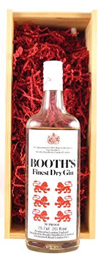 Booths Finest London Gin (1960's) in einer Geschenkbox, da zu 4 Weinaccessoires, 1 x 700ml