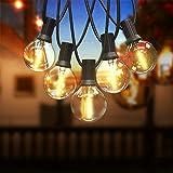 Qomolo Catena Luminosa LED Lampadine da Esterno Interno G40 Bulbi 18pcs Lampadine Bianco Caldo 6.8m Luci Decorativa da Interni e Esterni per Casa Festa Giardino Natale Bar Matrimonio