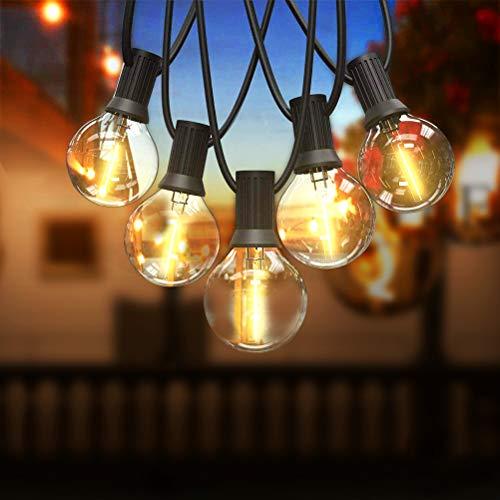 Guirnaldas Luminosas de Exterior, Qomolo G40 LED Cadena de Luces Con 16...