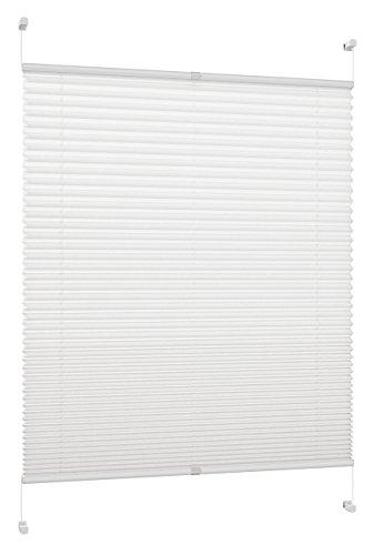 DecoProfi Plissee, Stoff, Weiß, 65 cm x 130 cm