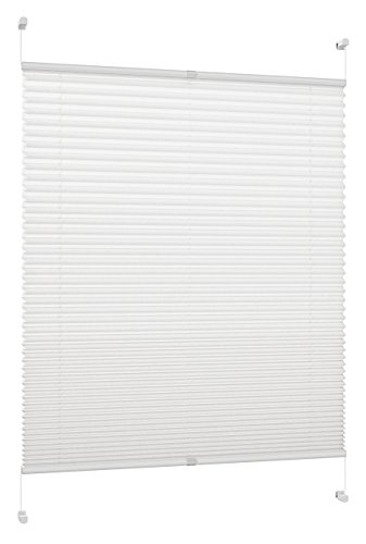 DecoProfi, PL01110130, Tenda a Soffietto, Rigida, Altezza Massima Pari all'anta della Finestra, con Supporto a Morsetto per fissarla Senza Bisogno di effettuare Fori, 50 x 220 cm, Colore: Bianco