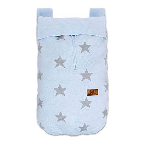 BO Baby's Only - Sac de rangement Star - Bleu Ciel/Gris - 50% coton/50% acrylique