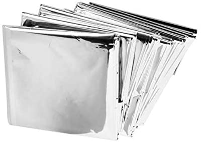 "BH Lot of 50 Emergency Mylar Blankets - 84"" x 52"" by BH"