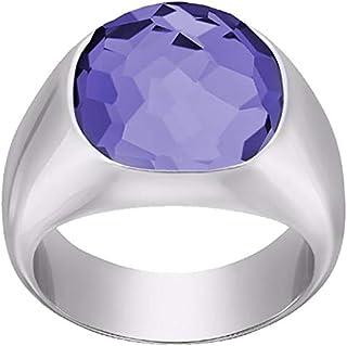 Swarovski Dot Rhodium Plated Crystal Fashion Ring - Size 17.3 mm
