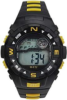 لاسيكا ساعة رياضية للجنسين رقمي بلاستيك مطاطي - W-F 77