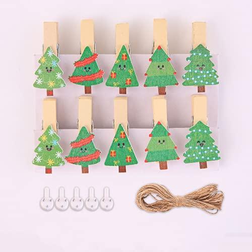 STROG 10 pinzas de madera para manualidades de madera, pinzas de madera natural, pequeños clips de letras de papel para decoración de pared de fotos, manualidades, manualidades, bodas y eventos