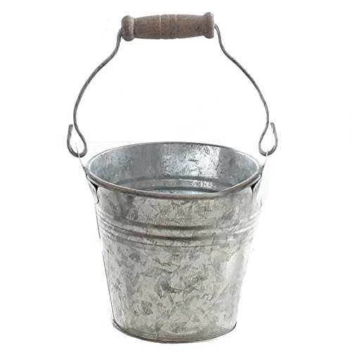 Annastore Kleine Metalleimer verzinkt mit Henkel in verschiedenen Größen - urig als Windlicht oder Blumenübertopf (6 Stück, 9,5 x 8 cm (Ø/H - ohne Henkel gemessen))