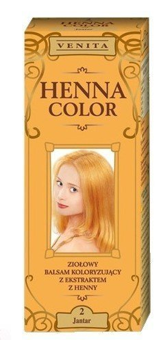 Henna Color 2 Bernstein Haarbalsam Haarfarbe Farbeffekt Naturhaarfärbemittel Henne Öko