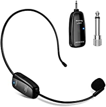 Wireless Microphone Headset, UHF Wireless Mic Headset and Handheld 2 in 1, 160 ft Range for Voice Amplifier, Stage Speakers, Teacher, Tour Guides, Fitness Instructor(Do Not Support Phone/Mac/Laptop)