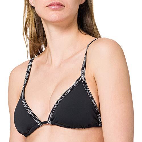 Calvin Klein Triangle-RP Parte Superior de Bikini, PVH Negro, S para Mujer